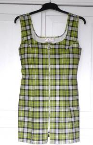 Groene korte jurkje